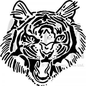 Azeeda Grand A2 'Tigre Rugir' Pochoir Mural (WS00029781) de la marque Azeeda image 0 produit