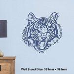 Azeeda Grand A2 'Tigre Rugir' Pochoir Mural (WS00029781) de la marque Azeeda image 1 produit