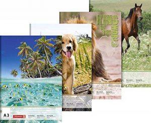 Baier schneider bloc &297 mm x 420 mm x a3, 100 g/m ² - 20 feuilles de papier à lettre animaux de la marque Baier & Schneider image 0 produit