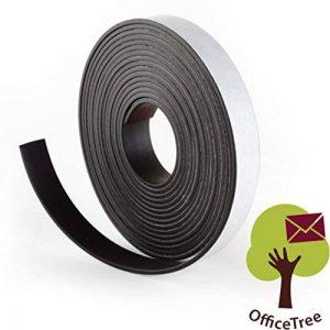 Bande magnétique OfficeTree ® - 3 m - Autocollante pour aimanter photos, notes, ou cadres en toute sécurité – Adhésion extraforte sur tableau blanc, tableau aimanté, tableau noir - noir de la marque OfficeTree image 0 produit
