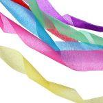 Banderoles en papier crépon pour fête d'anniversaire, de mariage, couleurs assorties, 4,5 cm x 25 m de la marque CAMTOP image 2 produit