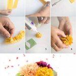 Banderoles en papier crépon pour fête d'anniversaire, de mariage, couleurs assorties, 4,5 cm x 25 m de la marque CAMTOP image 4 produit