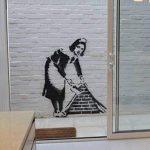 banksy DEMOISELLE taille réelle pochoir mural Spray peindre votre propre BANKSY Art FONCTIONNERA sur interne ou extérieur murs de la marque Ideal Stencils image 4 produit