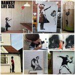 banksy fille Blowing Bulles grandeur nature pochoir peinture Votre Murs avec votre propre AUTHENTIQUE BANKSY Art complet peint taille 75x96cm de la marque Ideal Stencils image 2 produit