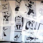banksy fleur lanceur Réplique Pochoir Réutilisable Décoration Maison & ART ARTISANAT peinture pochoir - semi transparent pochoir, XXL/77x93cm de la marque Ideal Stencils image 2 produit