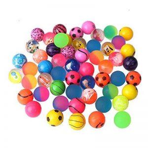 Beyond Dreams Lot de 24 Ballons sauteurs | Anniversaire des enfants | Jouets Kids Party | Cadeau de fête | Balle en caoutchouc | Balle rebondissante pour les enfants | Party favor | couleurs vives | pour le sac cadeau | petits cadeaux | adapté pour les ga image 0 produit