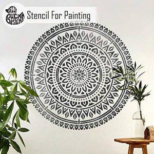 Bhadra Mandala Meubles Mur Sol Pochoir Pour Peinture - 18 cm de la marque Dizzy Duck Designs image 0 produit
