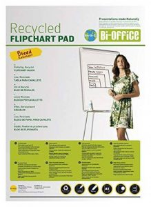 Bi-Office FL0111803 Lot de 5 Blocs de papier recyclé lisse pour Chevalet de Conférence A1 20 feuilles 55 g/m² de la marque Bi-OFFICE image 0 produit