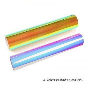 BIEE Vinyle artisanal en vinyle chromé holographique (feuilles 2 couleurs / paquet) de la marque BIEE image 0 produit