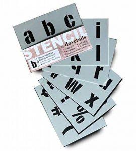 Big lettres de l'alphabet Pochoir lettres des symboles 50mm de haut 5cm 6x Feuilles 200x 148mm moderne boîtier inférieur de la marque Dovetails image 0 produit