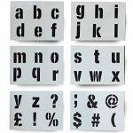Big lettres de l'alphabet Pochoir lettres des symboles 50mm de haut 5cm 6x Feuilles 200x 148mm moderne boîtier inférieur de la marque Dovetails image 1 produit