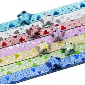 Black Temptation Matériaux faits à la main d'origami de paillettes d'étoile 140 feuilles (modèle en forme de coeur) de la marque Black Temptation image 0 produit