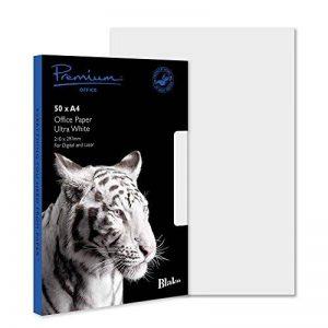 Blake de bureau A4 210 x 297 Papier vélin 120 g/m² Ultra blanc (lot de 50) de la marque Blake Premium image 0 produit