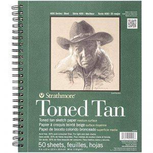 Bloc de papier croquis brun clair 22,9x30,5 Toned Tan de la marque Strathmore image 0 produit