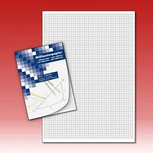 Bloc papier millimétré caractères dessin technique 50Feuilles DIN A4 de la marque Die Kalenderversender image 0 produit
