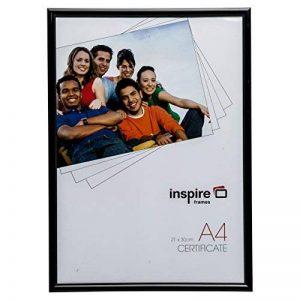 Blra4bk Dos de chargement Noir A4(21x 29.7cm) certificat Photo avec cadre photo avec 10mm de large Profil et en verre de qualité à l'avant de la marque Inspired For Business image 0 produit