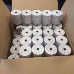 Bobine Papier Thermique, 80 x 80 x 12 mm, Lot de 50 rouleaux thermique 80x80x12 pour ticket de caisse - bobines de papier thermiques pour imprimante de tickets de caisse ou caisse enregistreuse - papier blanc haute qualité - marque univers graphique réf U image 1 produit