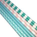 Bofa Rayures colorées papier pailles 19.7cm (lot de 100) de la marque BOFA STRAWS image 1 produit