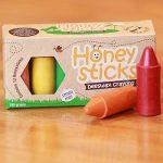 Boîte de 12 gros crayons Honeysticks 100% en pure cire d'abeille naturels et non toxiques, idéals pour les tout petits (1 an et plus) comme les plus grands, faits main en Nouvelle-Zélande de la marque Honey Sticks image 2 produit