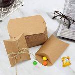 Boîtes Cadeaux JTDEAL Sacs Cadeaux Kraft, Boîtes Vintage de Bonbons avec Corde de Chanvre pour Mariage Fête Chocolats, Écrous, Sucres, Biscuits, Bonbons 50 Pièces de la marque JTDEAL image 1 produit