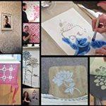 Bouddha Fleur De Lotus Pochoir Réutilisable Décoration murale d'intérieur, Art & artisanat pochoir peinture murs TISSUS & MEUBLES - semi transparent pochoir, XXL/54X95CM de la marque Ideal Stencils image 2 produit