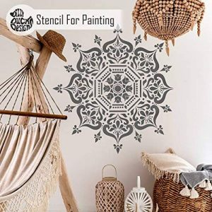Boukhara Mandala indien Mur meubles Sol Pochoir (50cm) de la marque Dizzy Duck Designs image 0 produit