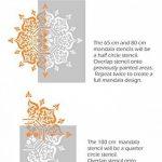 Boukhara Mandala indien Mur meubles Sol Pochoir (50cm) de la marque Dizzy Duck Designs image 2 produit