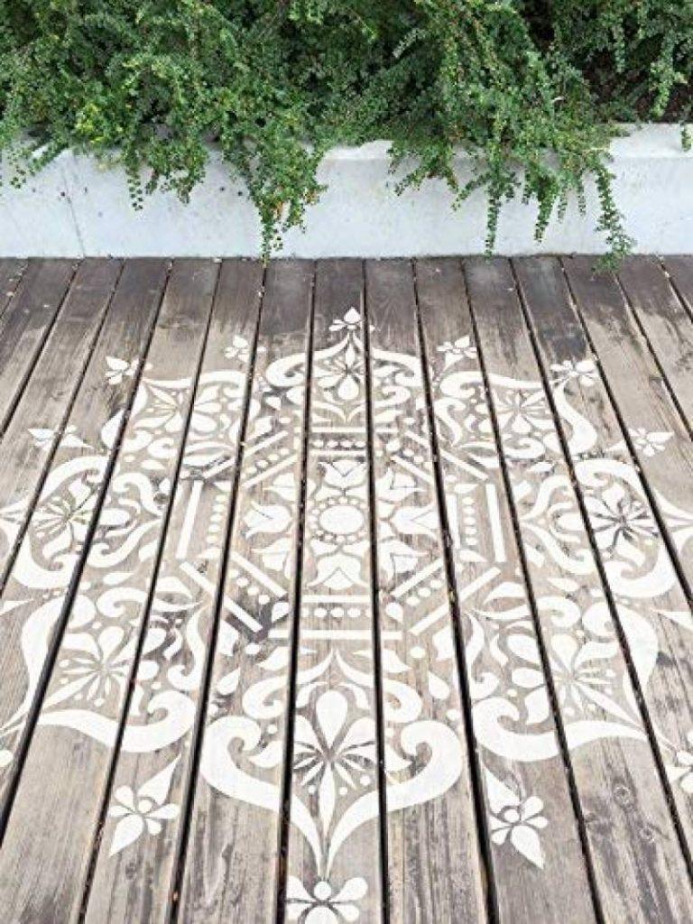 Shimla Mandala indien Mur meubles Sol Pochoir Pochoirs 8 cm