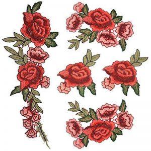 Broderie Fleur, Satkago 5Pcs Patch Rose Fleur Ecusson à Coudre pour Vêtement T-shirt Jeans Veste Sac de la marque Satkago image 0 produit