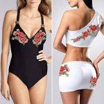 Broderie Fleur, Satkago 5Pcs Patch Rose Fleur Ecusson à Coudre pour Vêtement T-shirt Jeans Veste Sac de la marque Satkago image 3 produit