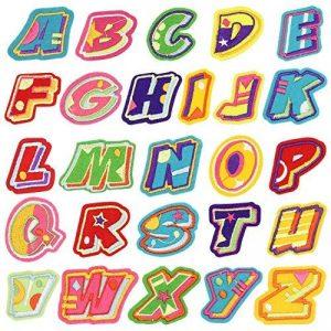 Broderie Patch Thermocollant, Satkago 26Pcs Stickers Lettres Alphabet Ecusson Thermocollant ou Ecusson à Coudre pour Vêtement T-shirt Jeans Veste Sac de la marque Satkago image 0 produit