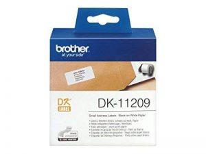 Brother DK-11209 800 etiquettes adresse 29 X 62 mm Noir/Blanc de la marque Brother image 0 produit