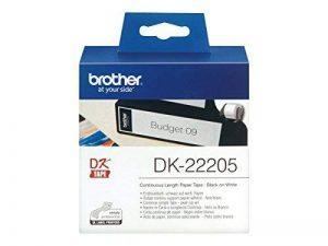 Brother DK22205 Rouleau papier étiquette 62 mm x 30,48 m Blanc de la marque Brother image 0 produit
