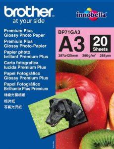 Brother LS5711001 Papier photo brillant premium plus A3 297x420 mm 20 feuilles de la marque Brother image 0 produit