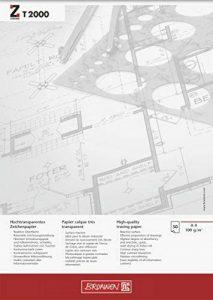 Brunnen Bloc de 50 feuilles de papier calque Format A4 210 x 297mm 100g/m² de la marque Brunnen image 0 produit