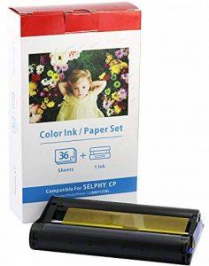 bubprint Papier photo glacé + Cartouche compatible avec CANON SELPHY KP-36in KP-36IP CP1200 CP1000 CP910 ES1 ES2 CP200 (100x148mm) de la marque Bubprint image 0 produit