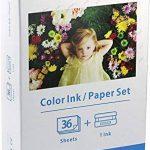 bubprint Papier photo glacé + Cartouche compatible avec CANON SELPHY KP-36in KP-36IP CP1200 CP1000 CP910 ES1 ES2 CP200 (100x148mm) de la marque Bubprint image 1 produit