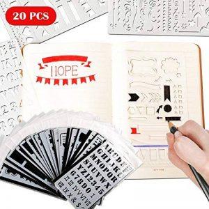Bullet Journal Pochoir Plastique Planner DIY Dessin Modèle Règle, TIME4DEALS Lot de 20 Pièces Pochoirs Enfants Peinture pour Journal Scrapbooking Carte et Projets d'Art de la marque TIME4DEALS image 0 produit