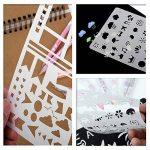 Bullet Journal Pochoir Plastique Planner DIY Dessin Modèle Règle, TIME4DEALS Lot de 20 Pièces Pochoirs Enfants Peinture pour Journal Scrapbooking Carte et Projets d'Art de la marque TIME4DEALS image 2 produit
