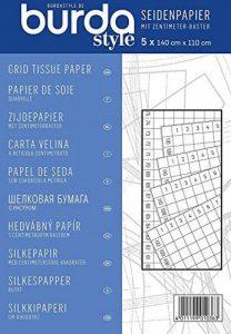 Burda - Papier de soie quadrillé - 5 feuilles - 150 x 110 cm de la marque Burda image 0 produit