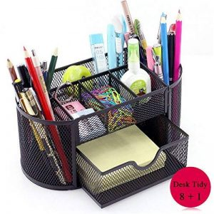 Bureau Organisateur, Vonimus Organisateur de Bureau Mesh Tidy Bureau Caddy Plateau Multi-fonctionnel Crayon Noir Métal Crayon Manique (Noir) de la marque image 0 produit