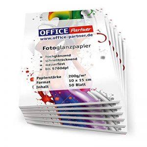 Bureau Partenaires de 300 feuilles de Papier Photo 10 x 15 cm - 200 g/m ² Blanc brillant de la marque OFFICE Partner image 0 produit