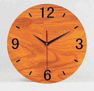 BYLE Wall Clock BYLE Creative Fashion faux pas muet fort Wood-Grain intérieur Salon Horloge murale, 14 pouces, 3, de la marque BYLE Wall Clock image 0 produit