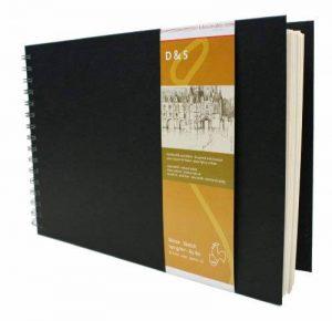 Cahier pour dessin et croquis - Format paysage - 140g - A4 - 80 Feuilles - Noir à spirale. de la marque Hahnemühle image 0 produit