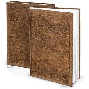 """Cahier Taille XXL Motif """"Ancien monde"""" Marron DIN A4164pages avec pages blanches vierges de la marque Logbuch-Verlag image 0 produit"""
