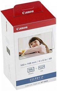 Canon - 3115B001(AA) - Cartouche d'Encre d'Origine + Papier 108 Feuilles - Tricolore de la marque Canon image 0 produit