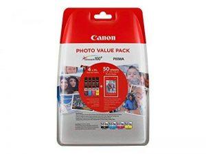 Canon CLI-551X L C/M/Y/BK + Papier photo cyan magenta jaune noir réservoirs d'encre XL + 4x 6papier photo PP-20150blatt Avantage Pack Blister de la marque Canon image 0 produit