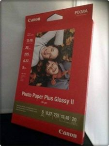 Canon papier photo 20 feuilles de papier photo ultra brillant, pP - 201 iI 275 g, 13 x 18 pack de la marque Canon image 0 produit
