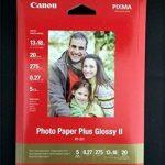 Canon papier photo 20 feuilles de papier photo ultra brillant, pP - 201 iI 275 g, 13 x 18 pack de la marque Canon image 1 produit