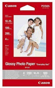Canon Papier Photo Brillant, 100Feuilles 10x 15Glossy Photo Paper Everyday 210g, A610x 15cm de la marque Canon image 0 produit